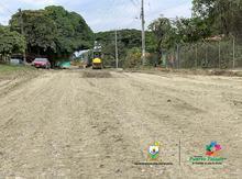 Se adelantan los trabajos para la Pavimentación de la vía que nos conduce a los barrios del norte, (Clínica Comfacauca)