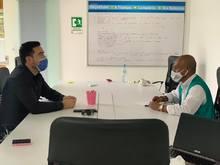 El alcalde municipal Dagoberto Dominguez, se reúne con empresarios de la zona industrial del Trocadero